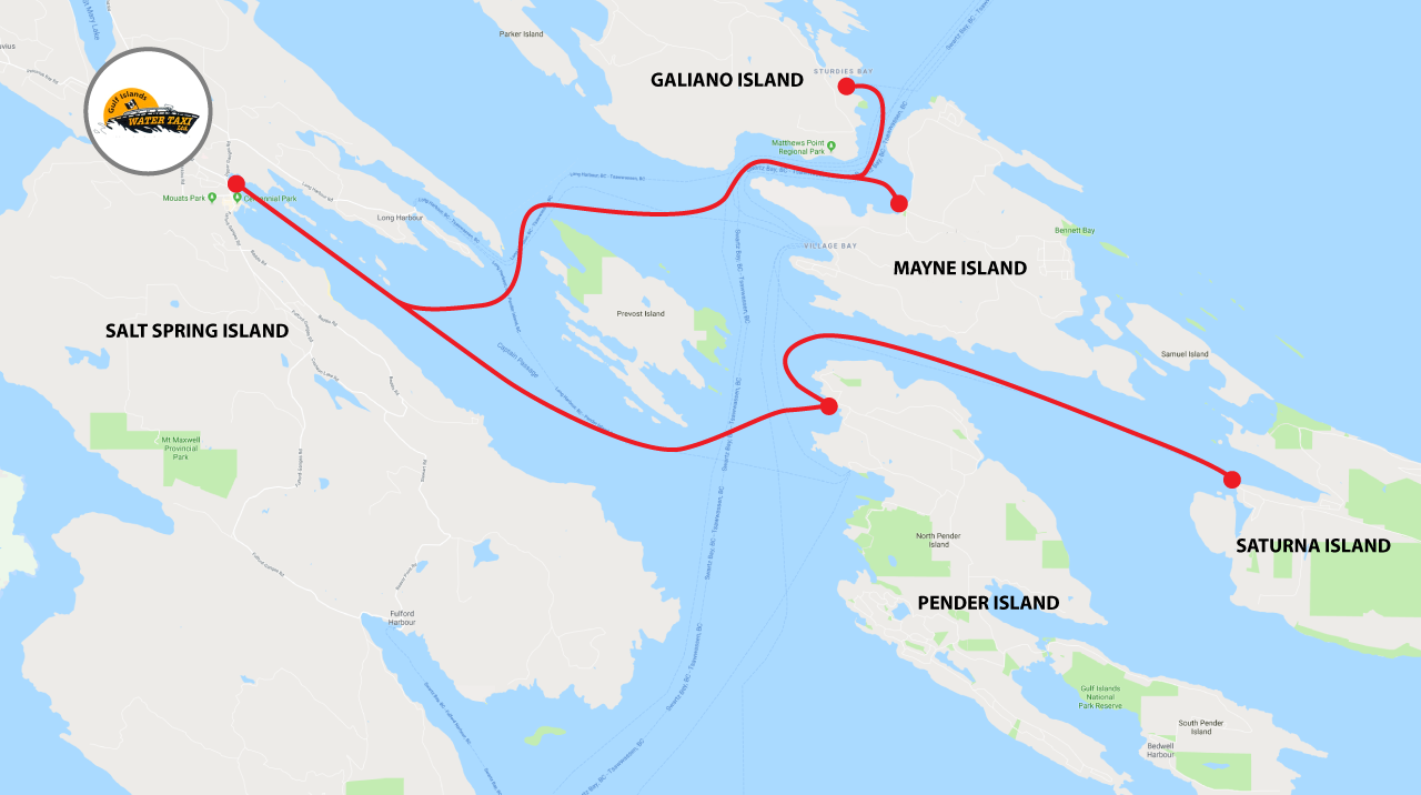 Route Map - Gulf Islands Water Taxi